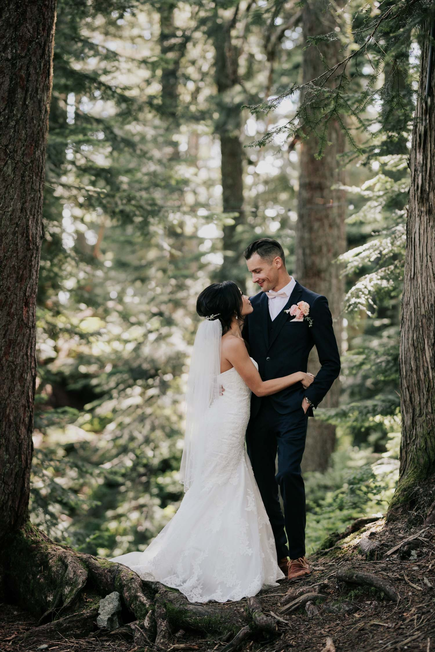 Grouse Mountain Vancouver Wedding Venue Forest Portrait Photo Shoot