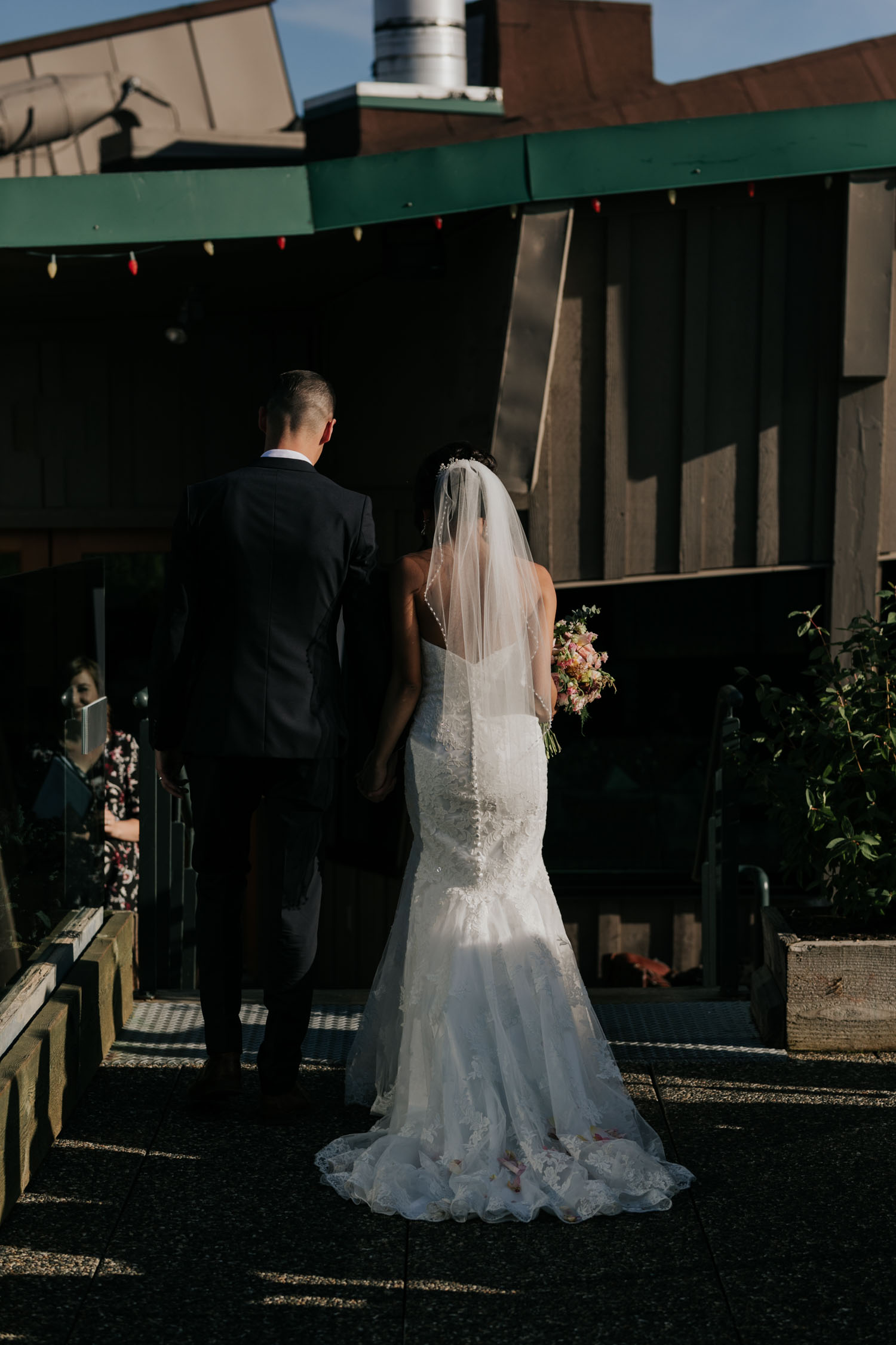 Bride Groom Summer Wedding Grouse Mountain Altitudes Bistro