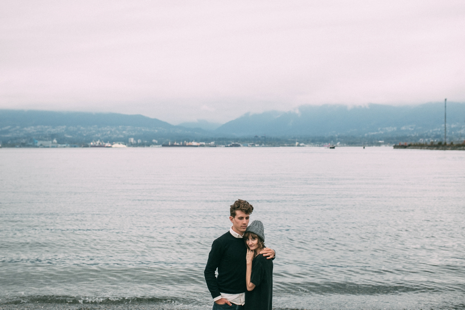 Pink Sky Sunset Engagement Photo Shoot Vancouver