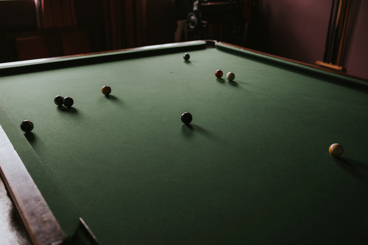 Old Billiards Table At Cecil Green Park House Wedding Venue Vancouver