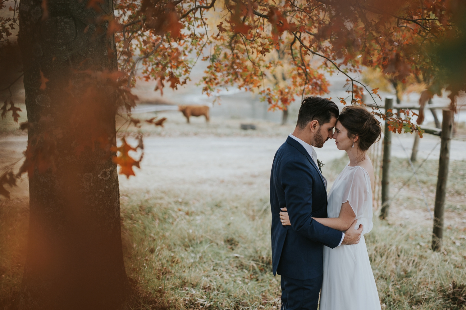 Beautiful and natural Wedding Portraits by best Vancouver Wedding Photographer at farm wedding