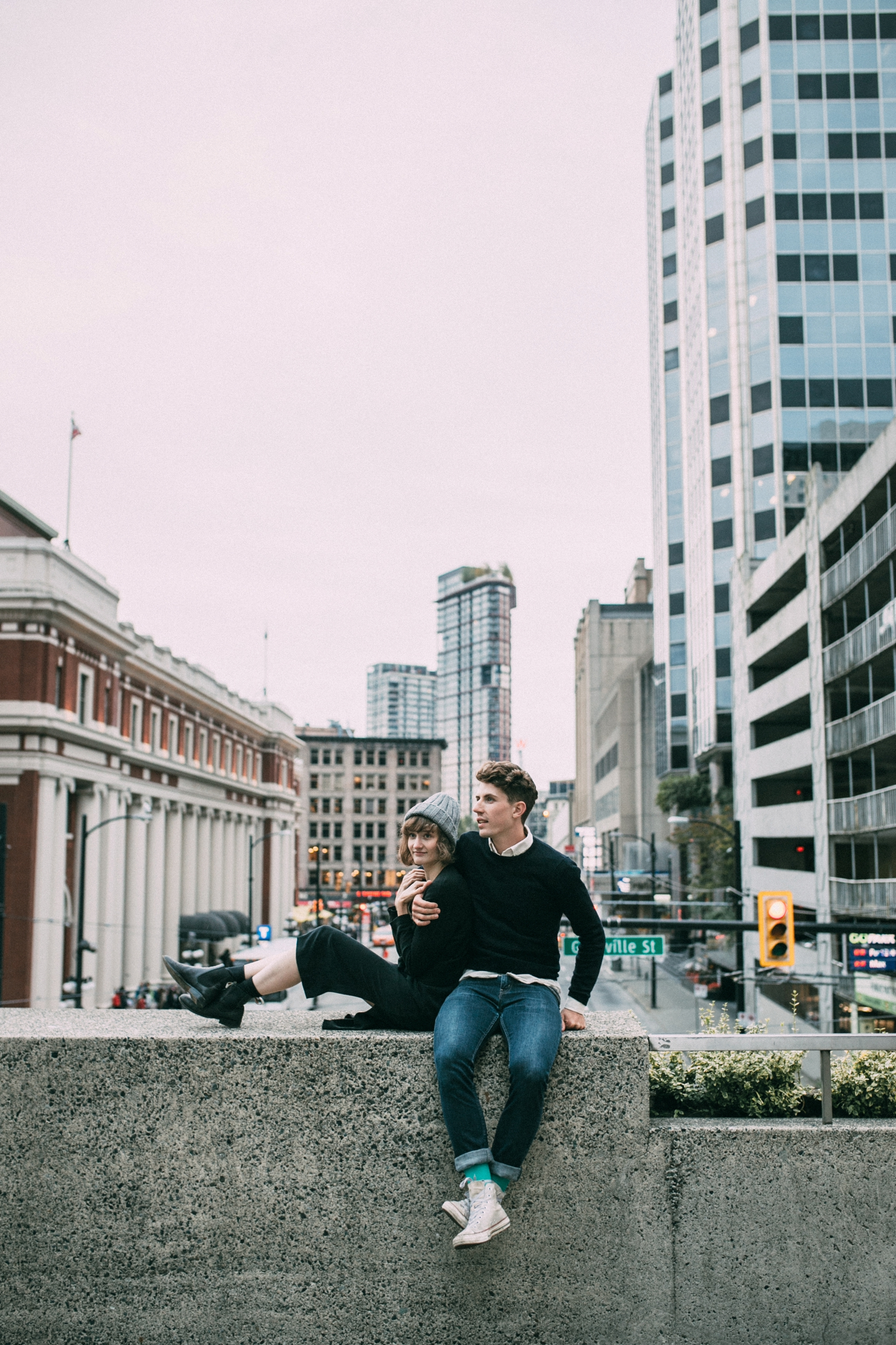 Vancouver city engagement photography shoot ideas