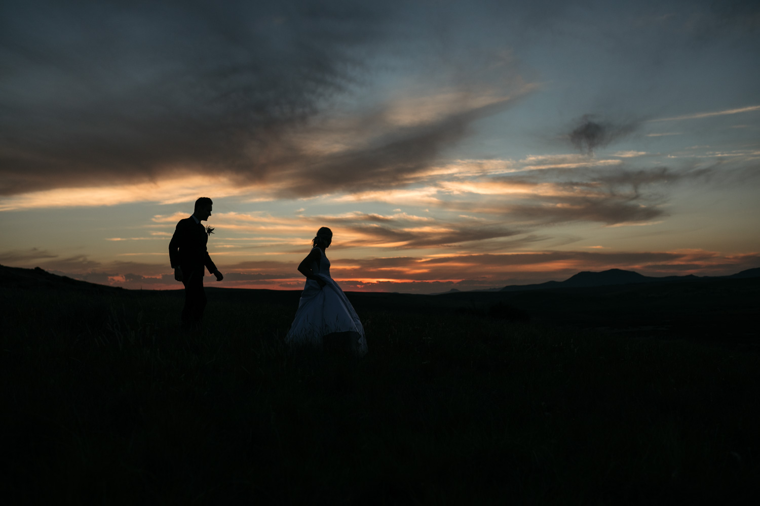 Bride And Groom Portrait In Epic Vancouver Mountain Location Sunset