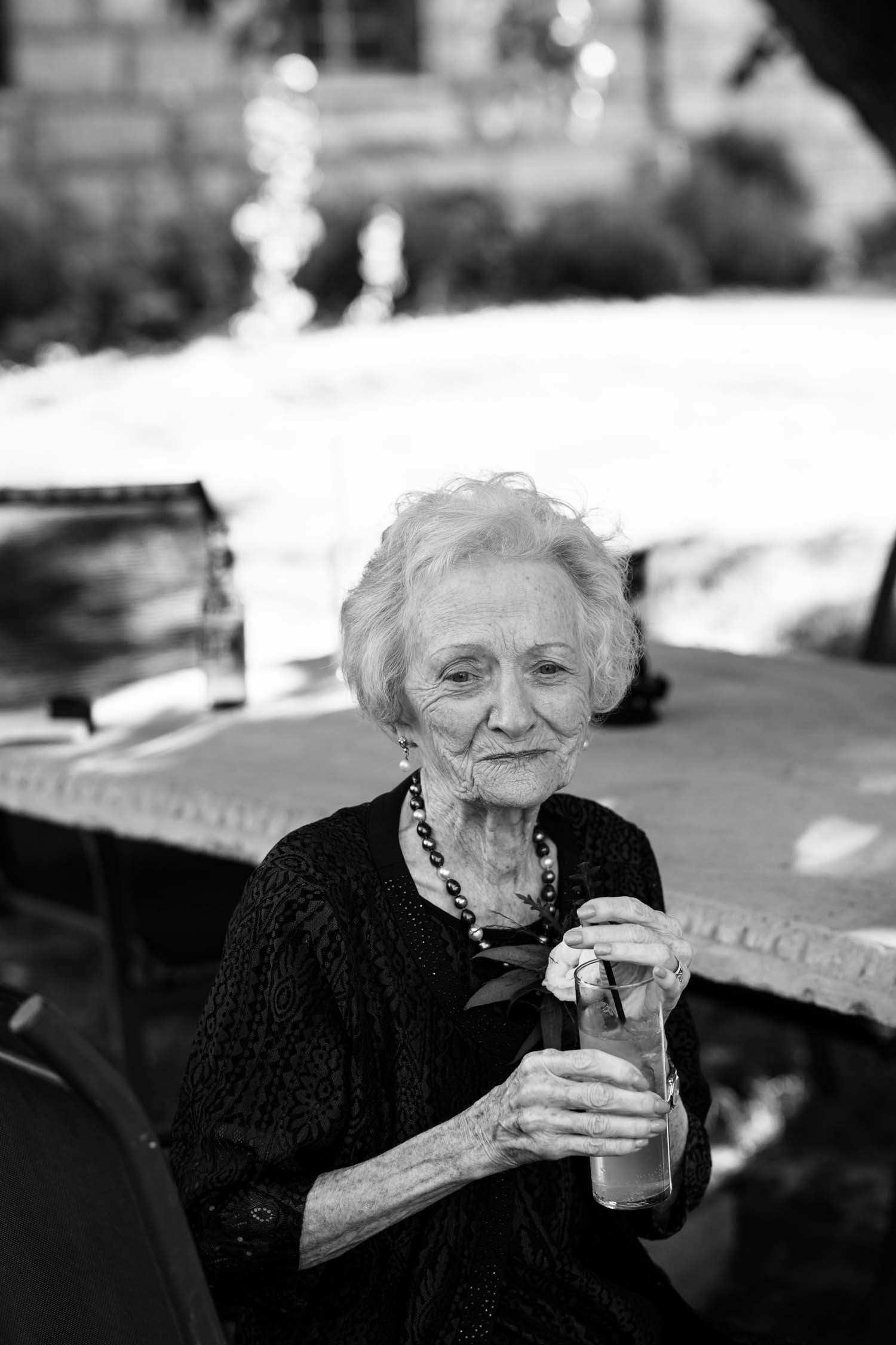 Epic Beautiful Unusual Portrait Of Grandmother During Cocktail Hour At Wedding