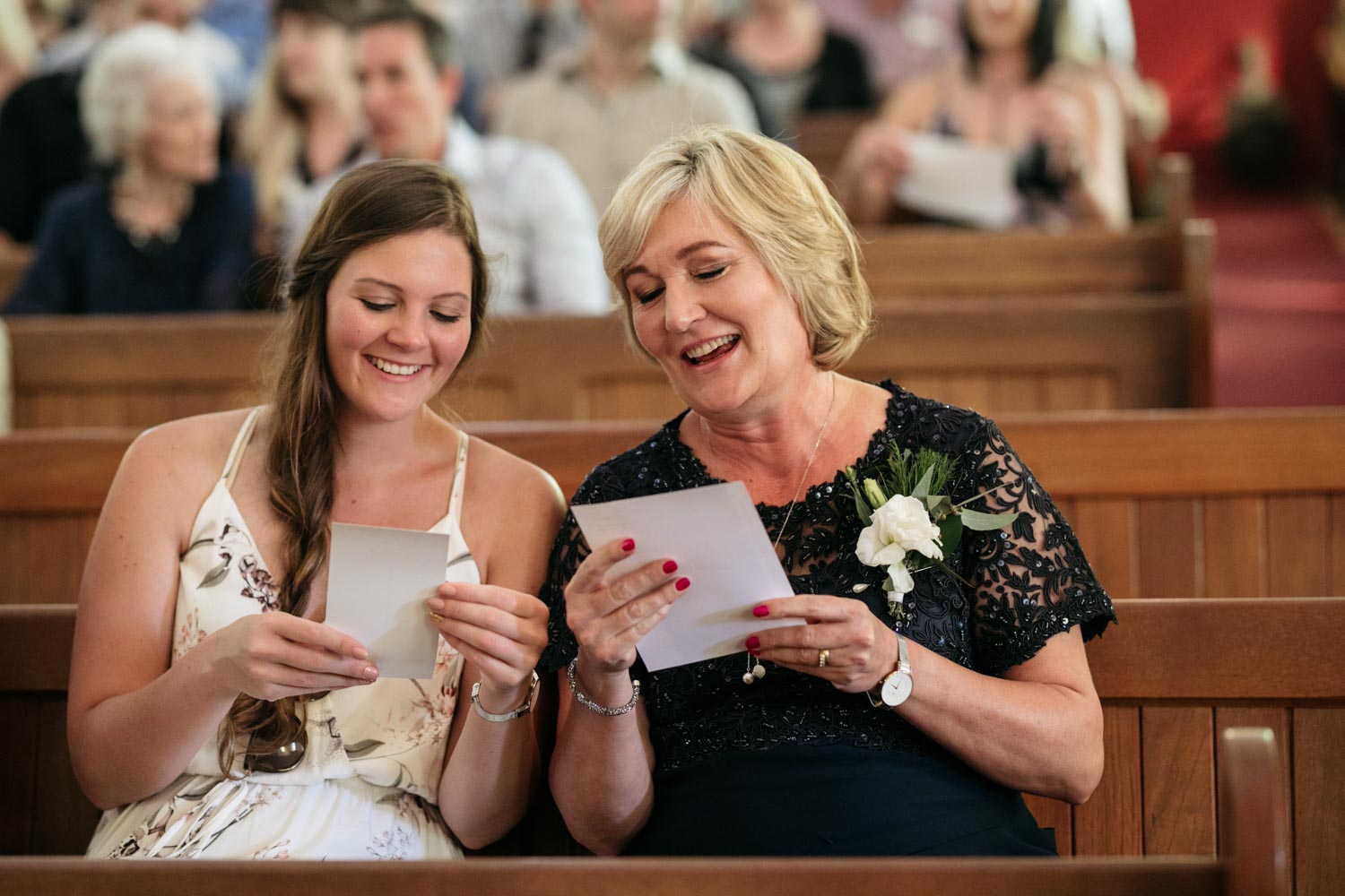 Candid Moment During Wedding Ceremony In Old Vancouver Church