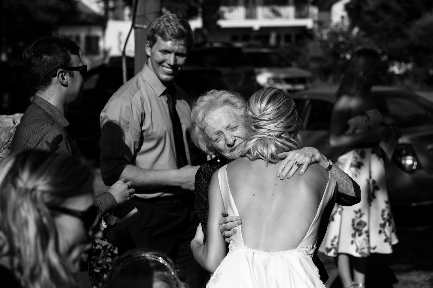 Grandmother Hugs and Congratulates Granddaughter After She Gets Married Best Wedding Photograph