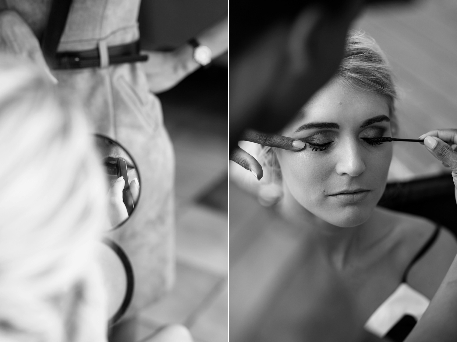 Bride Gets Makeup Done Interesting Make Up Photos