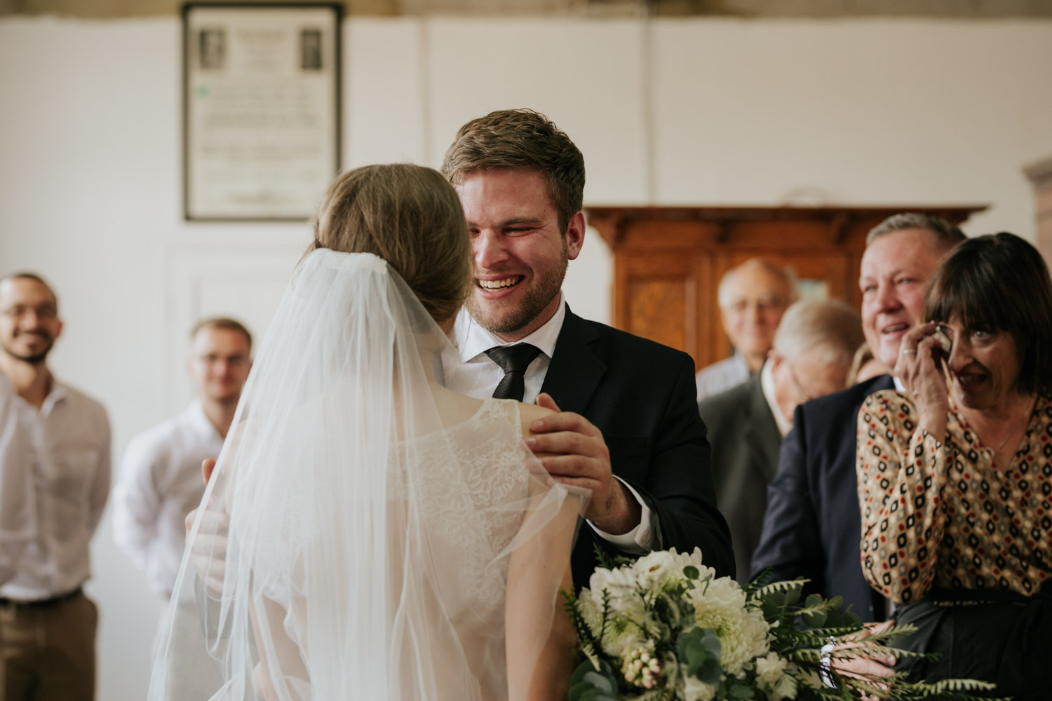 Amazing Expression And Reaction When Grooms Sees His Bride For First Time