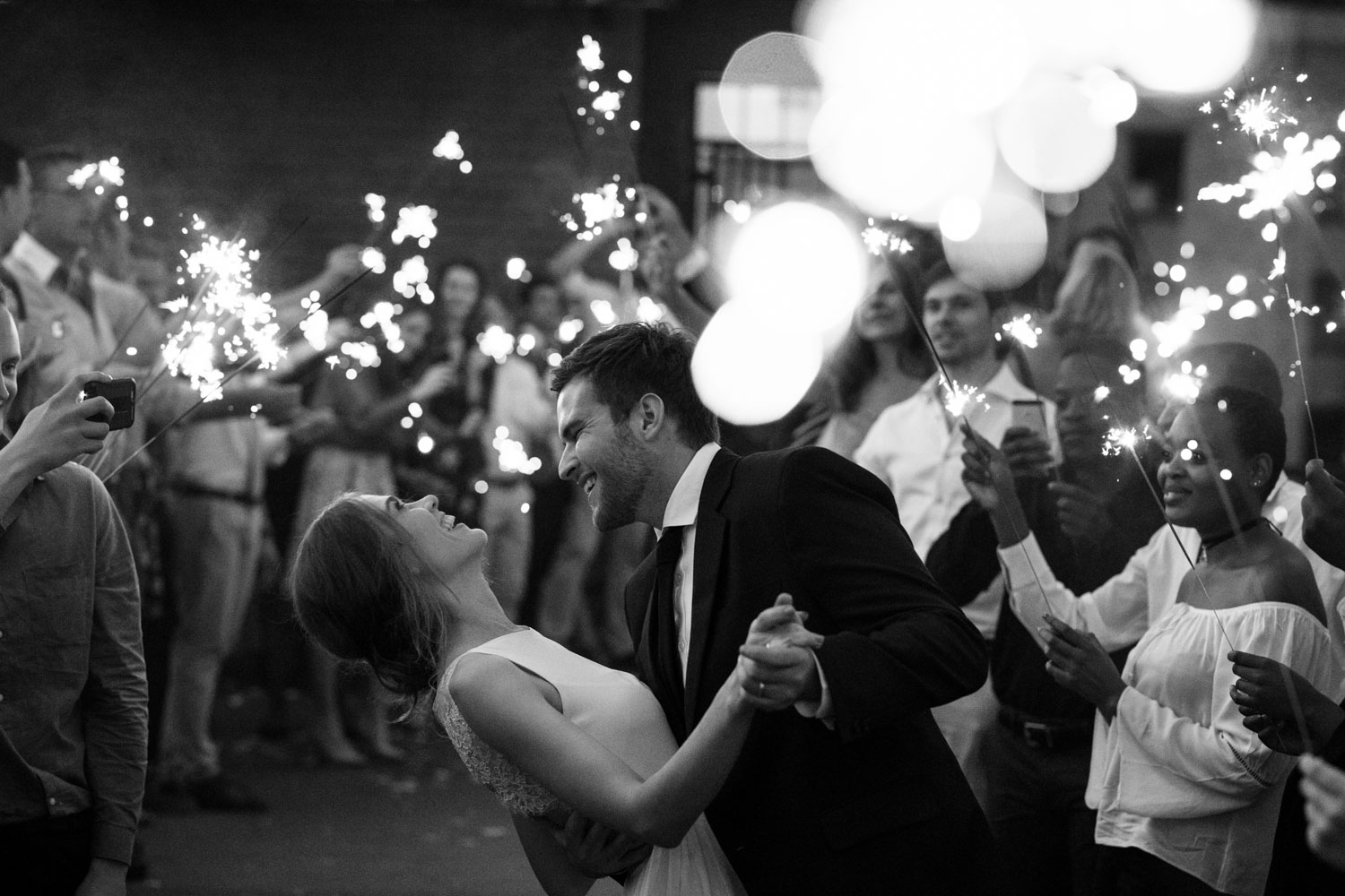 Bride And Groom Dance In Sparkler Entrance Wedding Photo In Vancouver City
