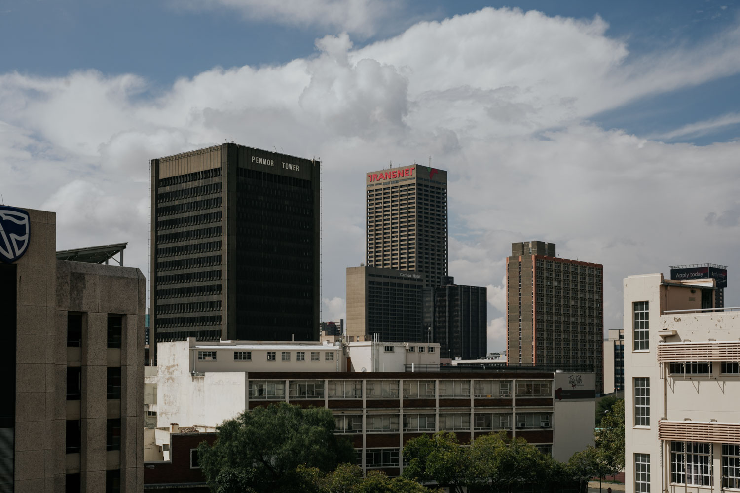 Johannesburg City Scape Old Buildings