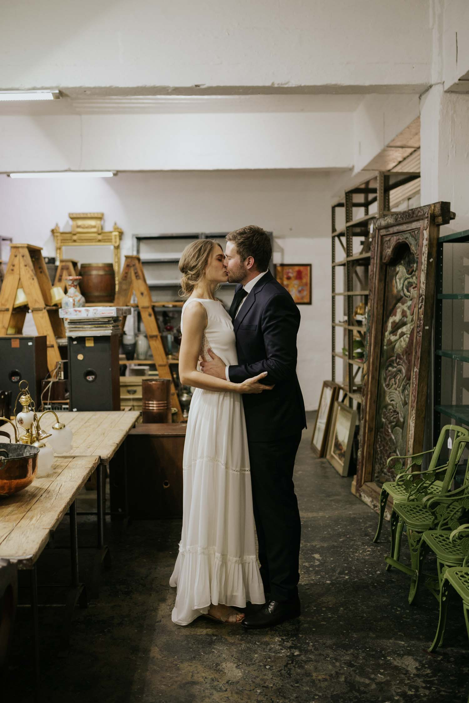 Alternative Location For Couple Wedding Photography Session In Old Vancouver Warehouse