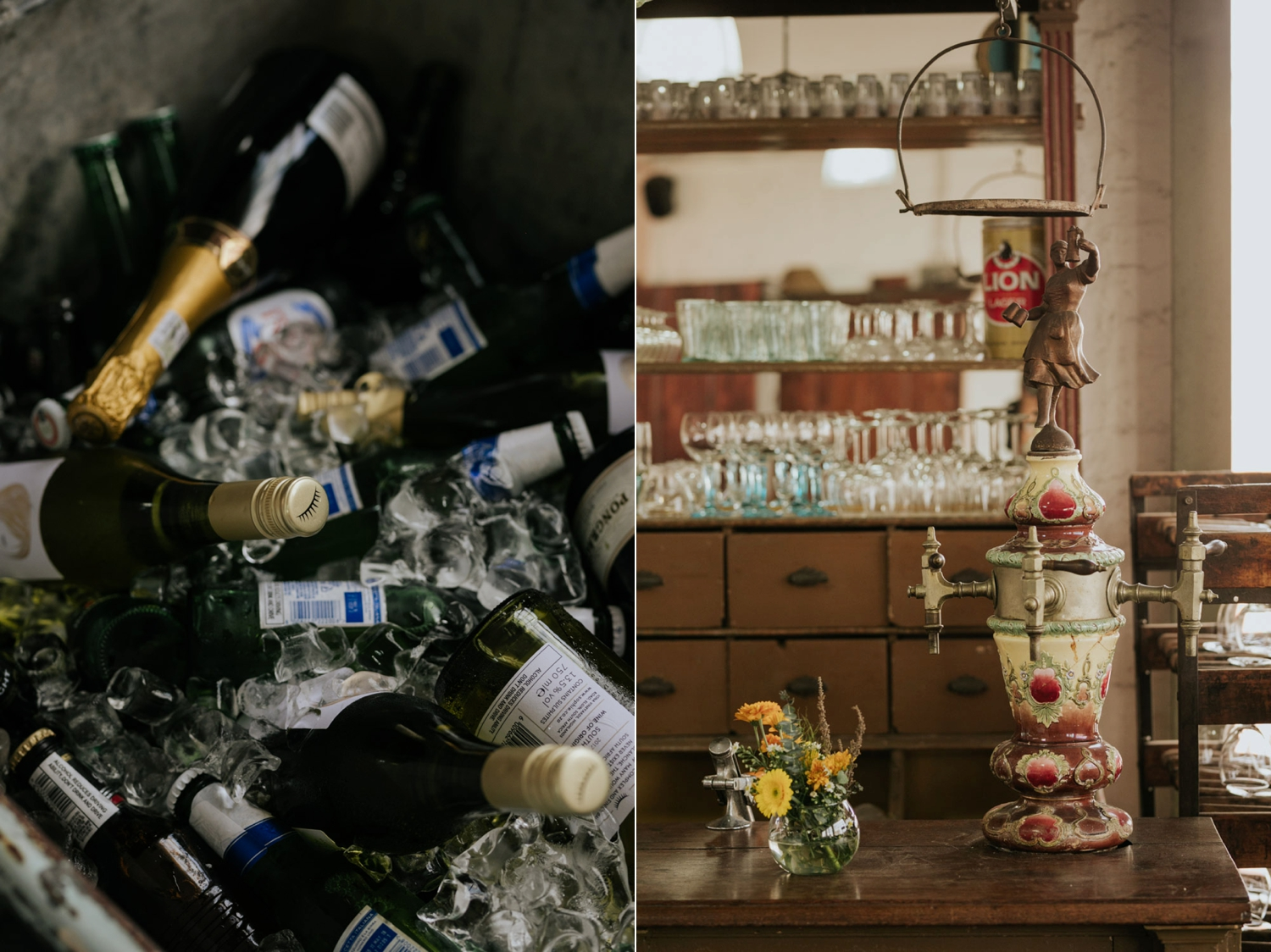 Alternative Ideas For Wedding Bar Setup