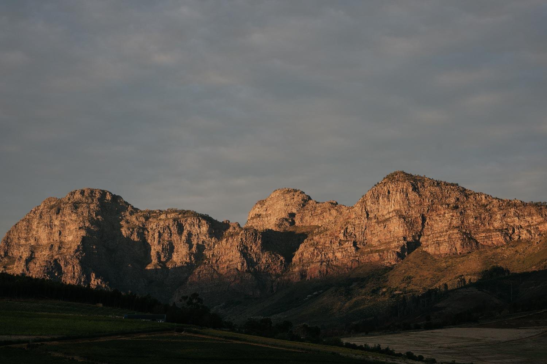 Light On Cape Town Mountain At Babylonstoren Wedding Venue Near Cape Town
