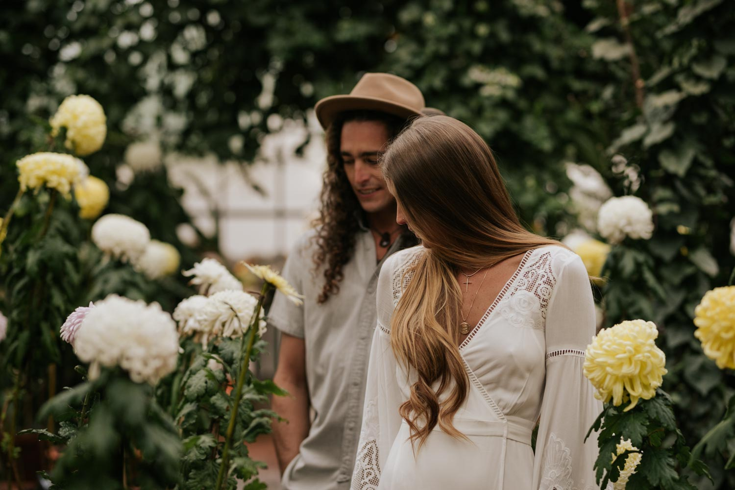 Boho Wedding At Babylonstoren In Greenhouse With Flowers And Plants