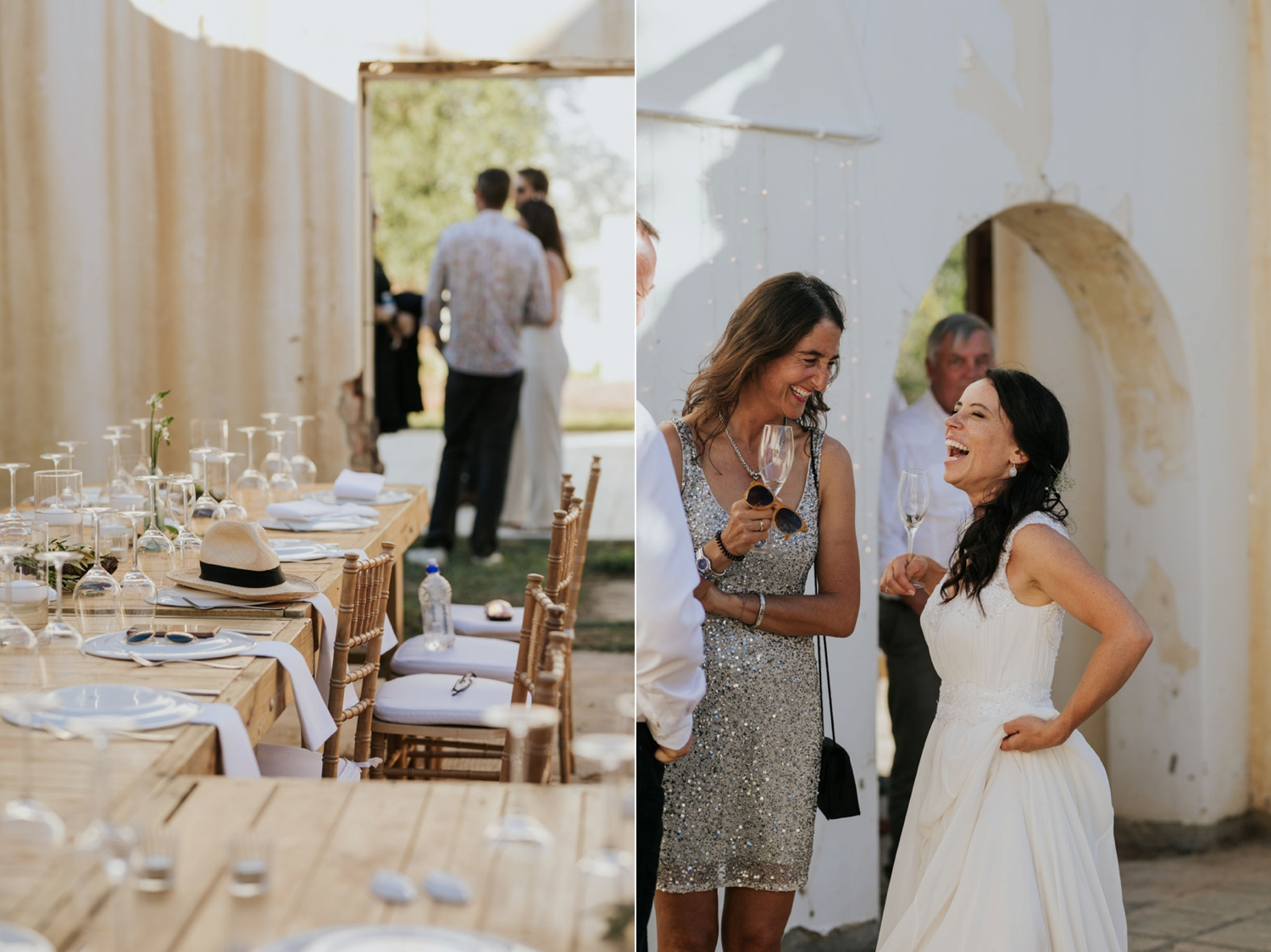 A fun and relaxed wedding lunch held in Cape Town, South Africa.