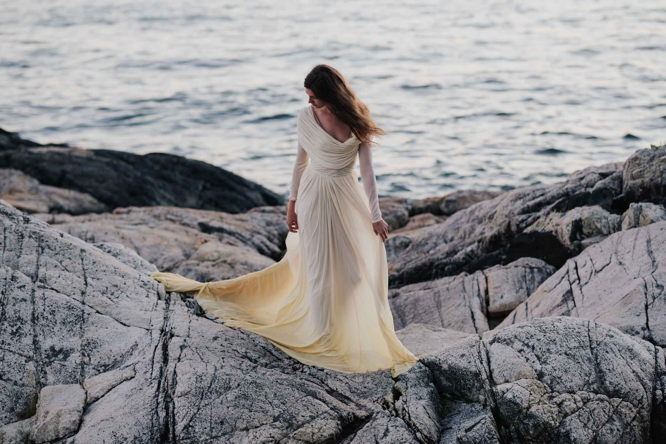 Wedding Portrait Photo Shoot At Seaside Beach Rocks North Vancouver