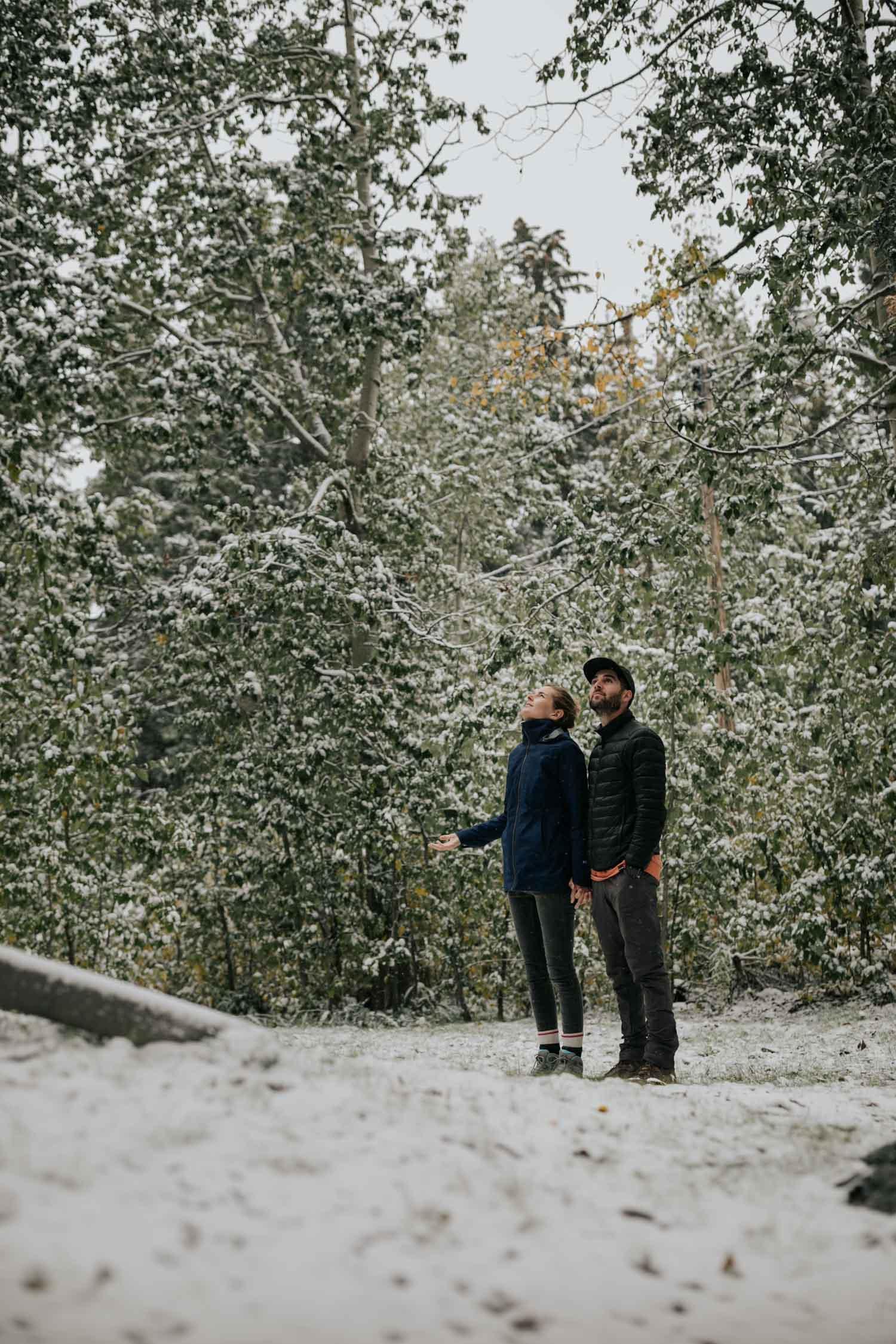 Canmore Alberta Wedding Photographer Snow Wedding
