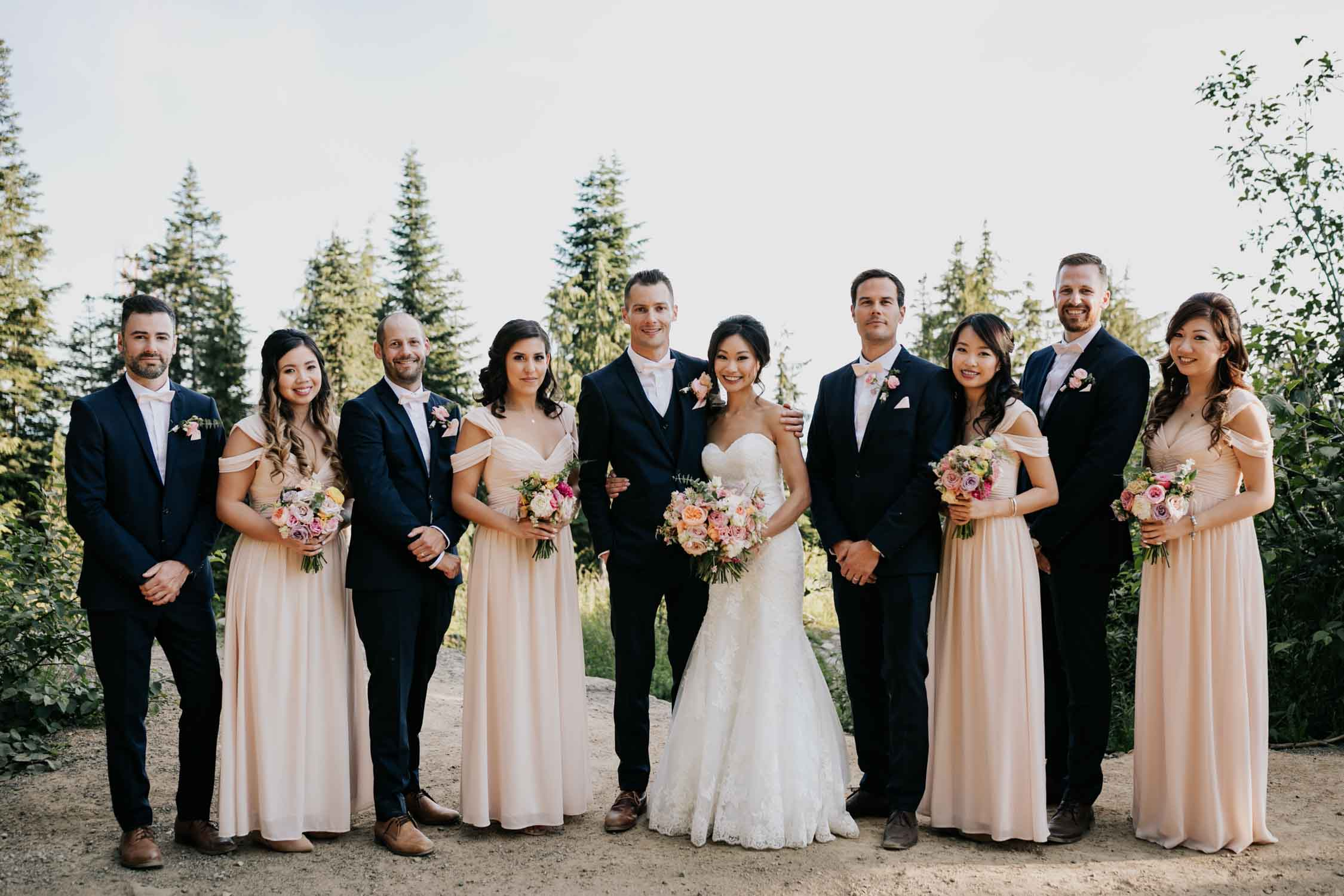 Classic Forever Bridal Party Portrait Vancouver Photographer
