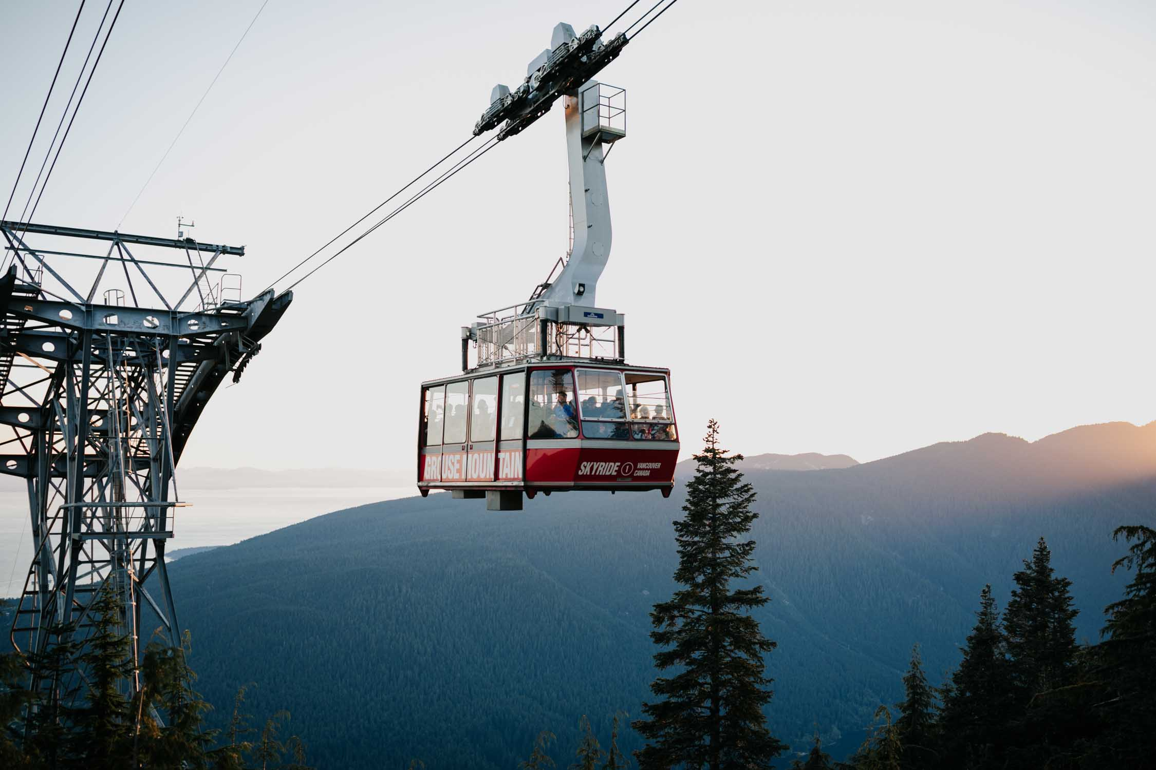 Gondola Grouse Mountain Wedding Venue