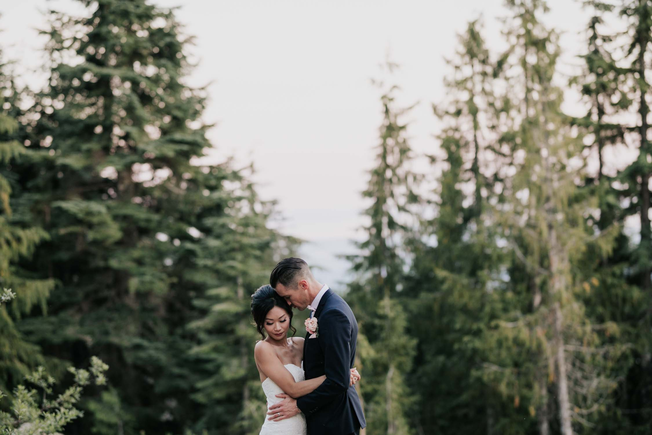 Beautiful Wedding Portrait Session Grouse Mountain