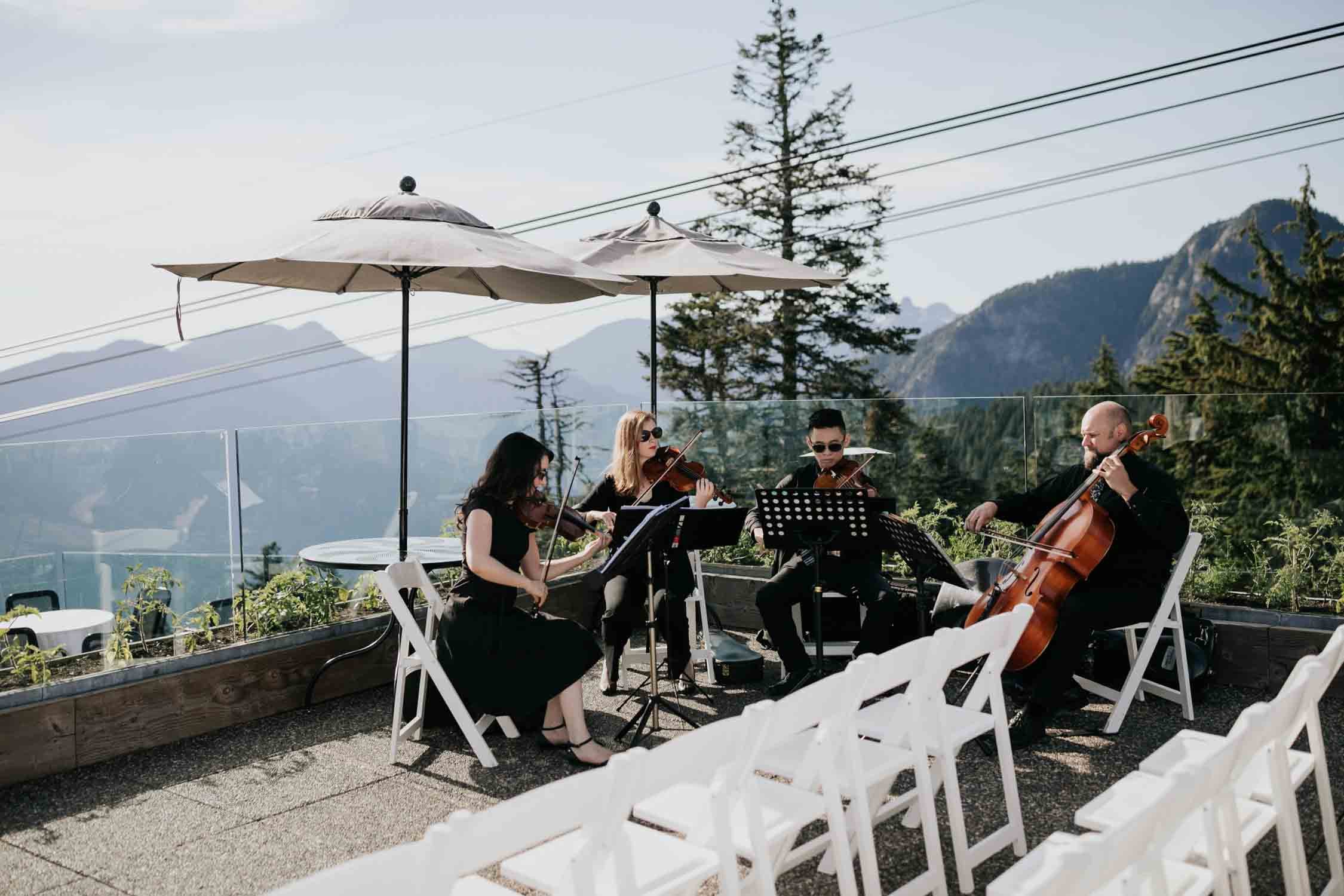 Altitudes Bistro Grouse Mountain Wedding Venue Band Music