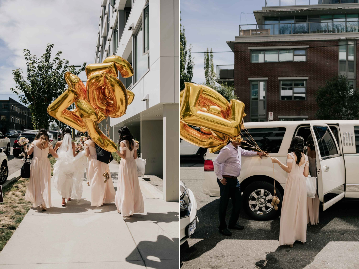 Big Gold Letter Balloons Vancouver Wedding Idea