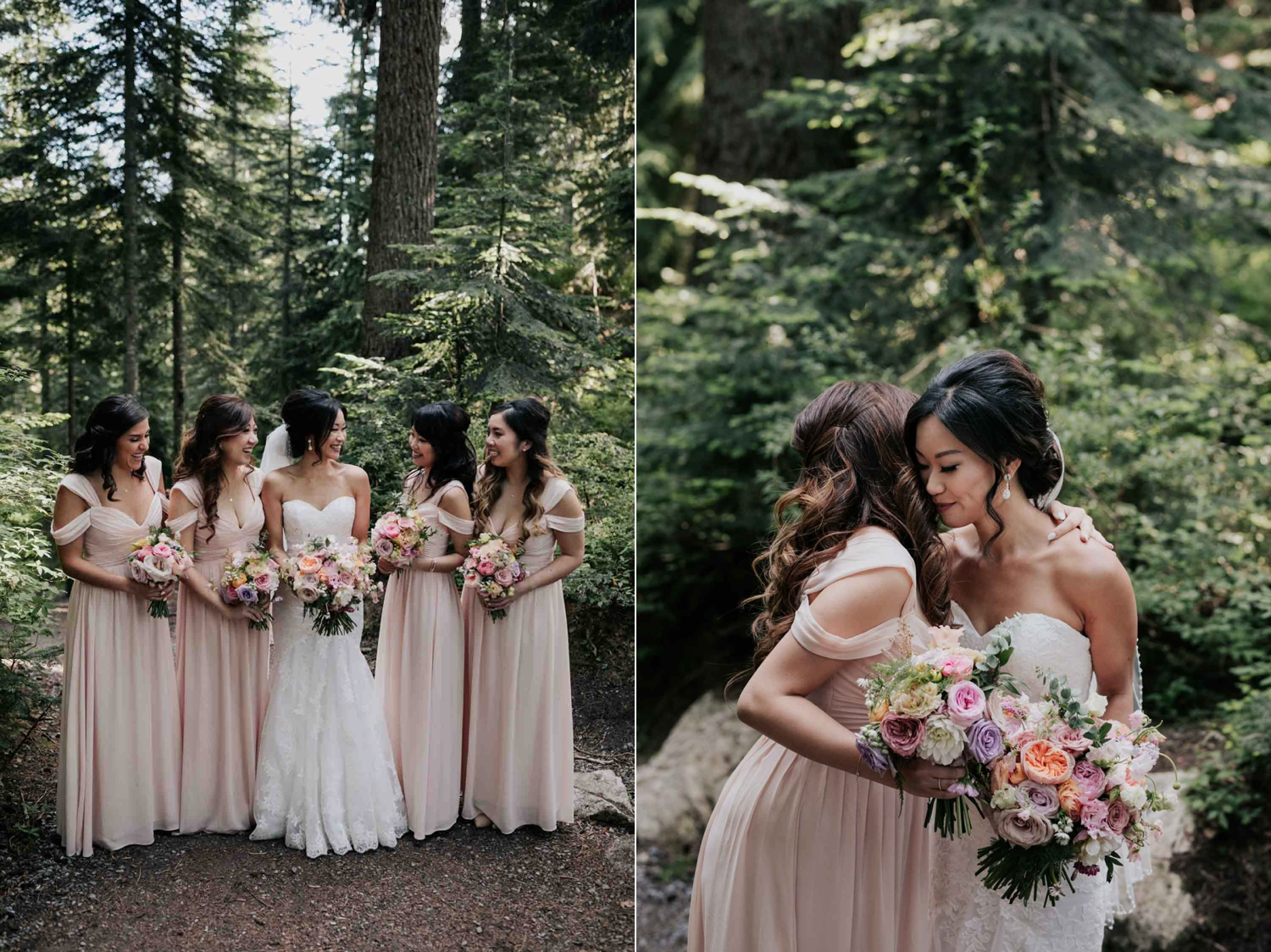 Pink Pastel Soft Off The Shoulder Trending Bridesmaids Dresses