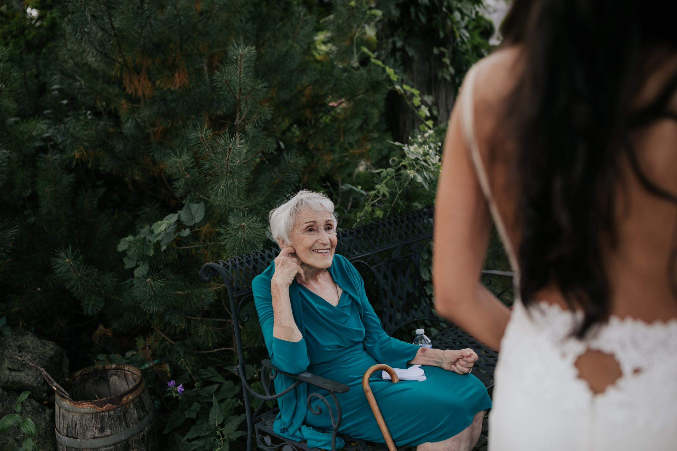 Candid and natural photographs of guests at Madsen's Greenhouse wedding venue in Newmarket close to Toronto