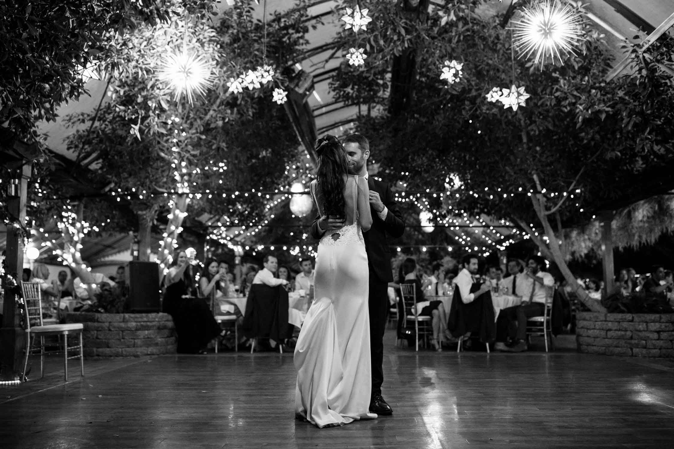 Romantic first dance at Madsen's Greenhouse wedding venue in Newmarket close to Toronto