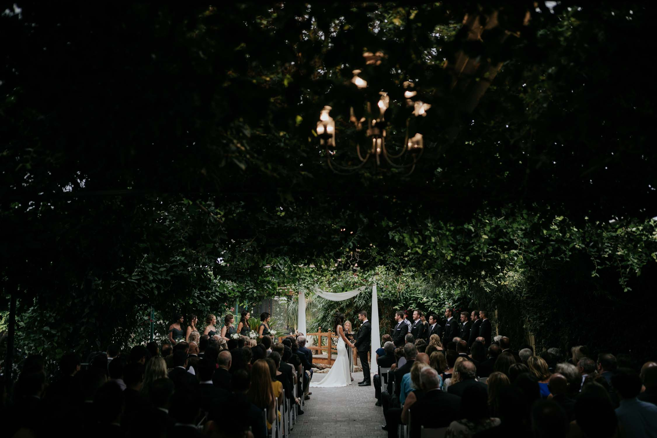 Greenhouse chapel at Madsen's Greenhouse wedding venue in Newmarket close to Toronto