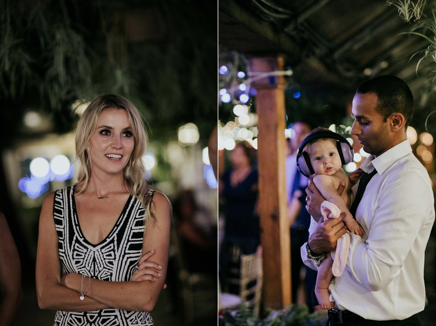 Clever purple earphones designed to protect babies' ears from loud noises during wedding and music concerts