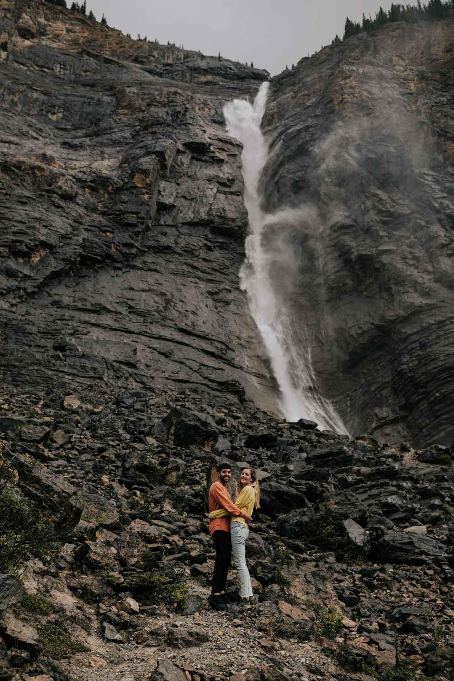 Takakkaw Fall Elopement Location Banff Photographer