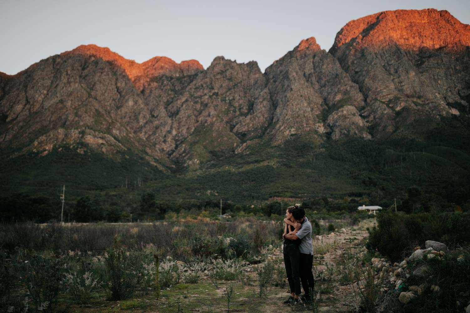 Engagement Photo Shoot in the Franschhoek Mountains close to Cape Town