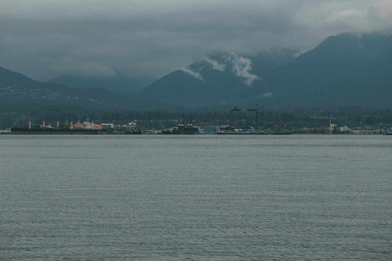 View Vancouver City Mountains Sea Ocean