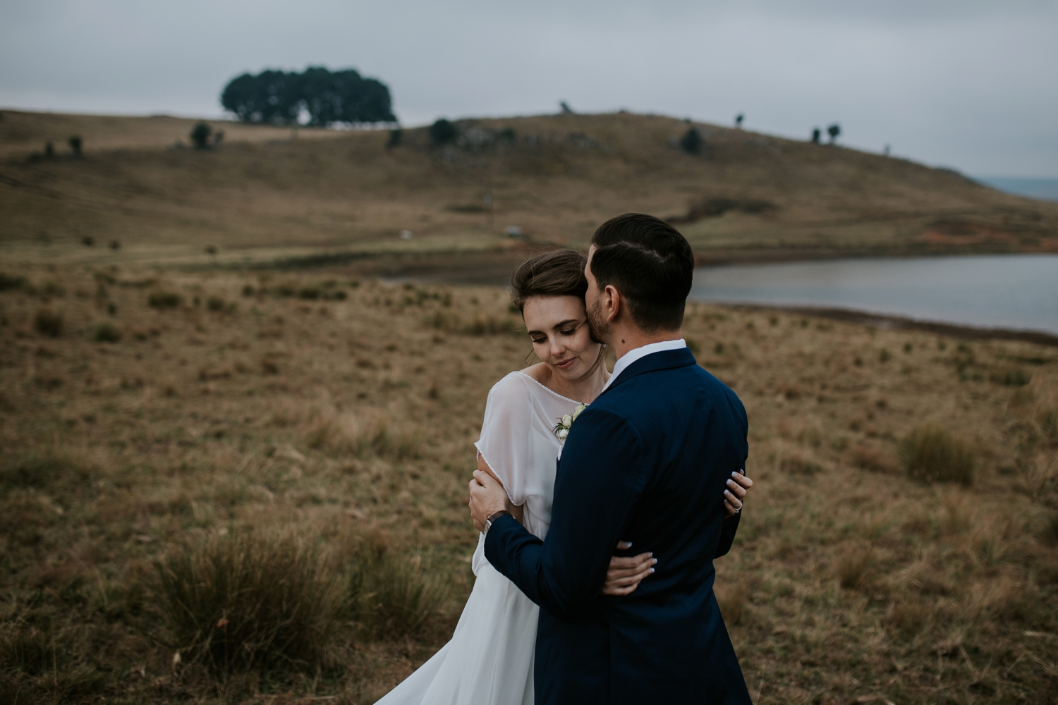 Unposed Wedding Portraits by Alternative Vancouver Wedding Photographer in Amazing Landscape
