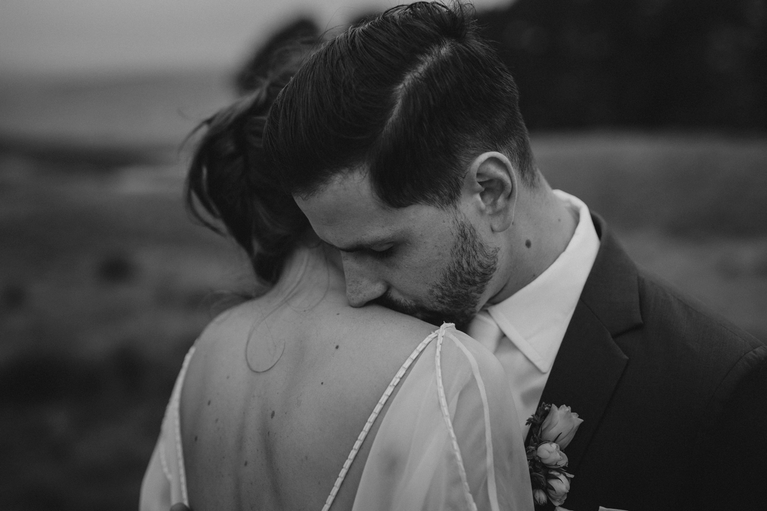 Dark and Moody Wedding Portraits by Alternative Vancouver Wedding Photographer