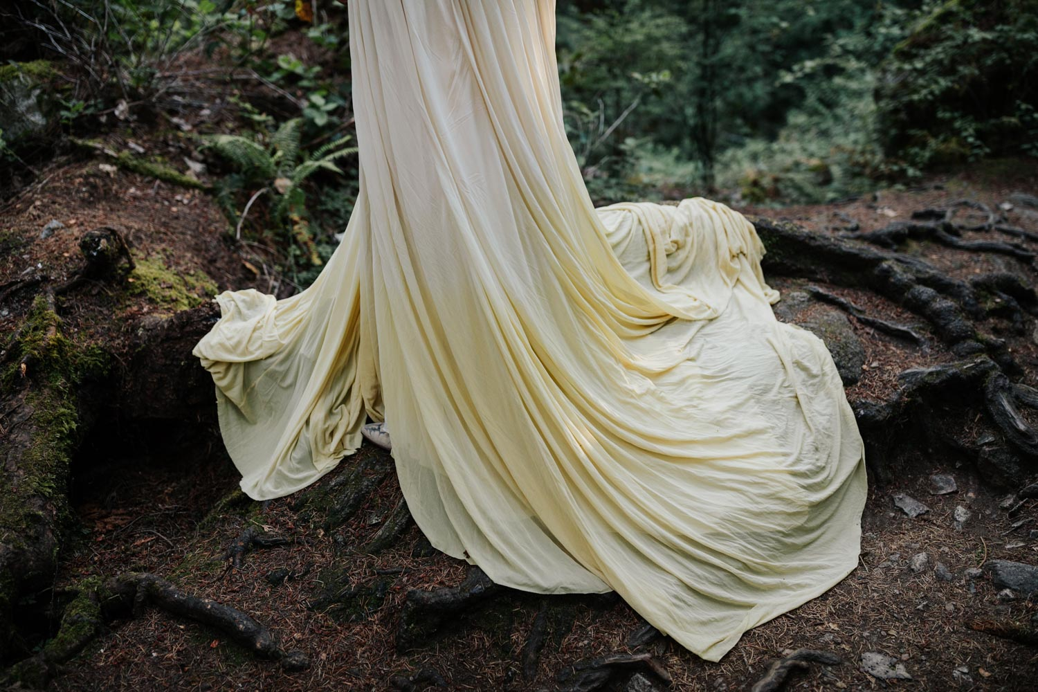 Camomile Tea Dip Dyed Wedding Dress Relic Atelier Vancouver Wedding Dress Designer