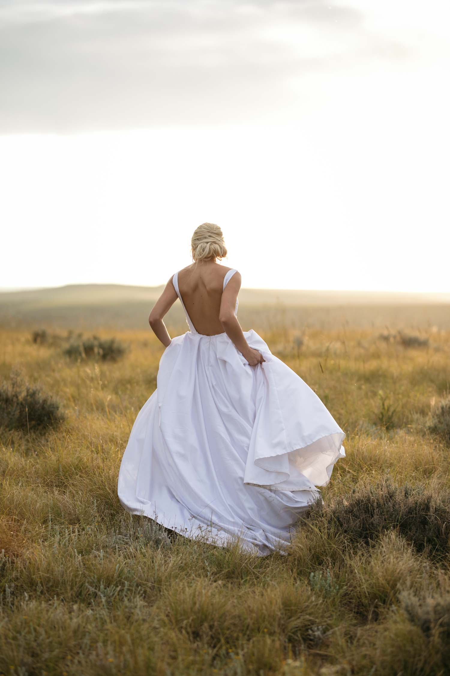 Epic Bridal Portrait Backless Modern Classic Wedding Dress