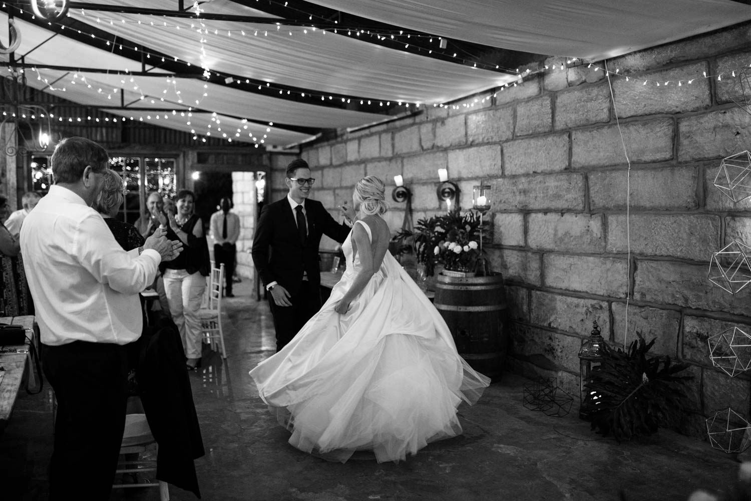 Bride And Groom Dance Into Vancouver Wedding Reception