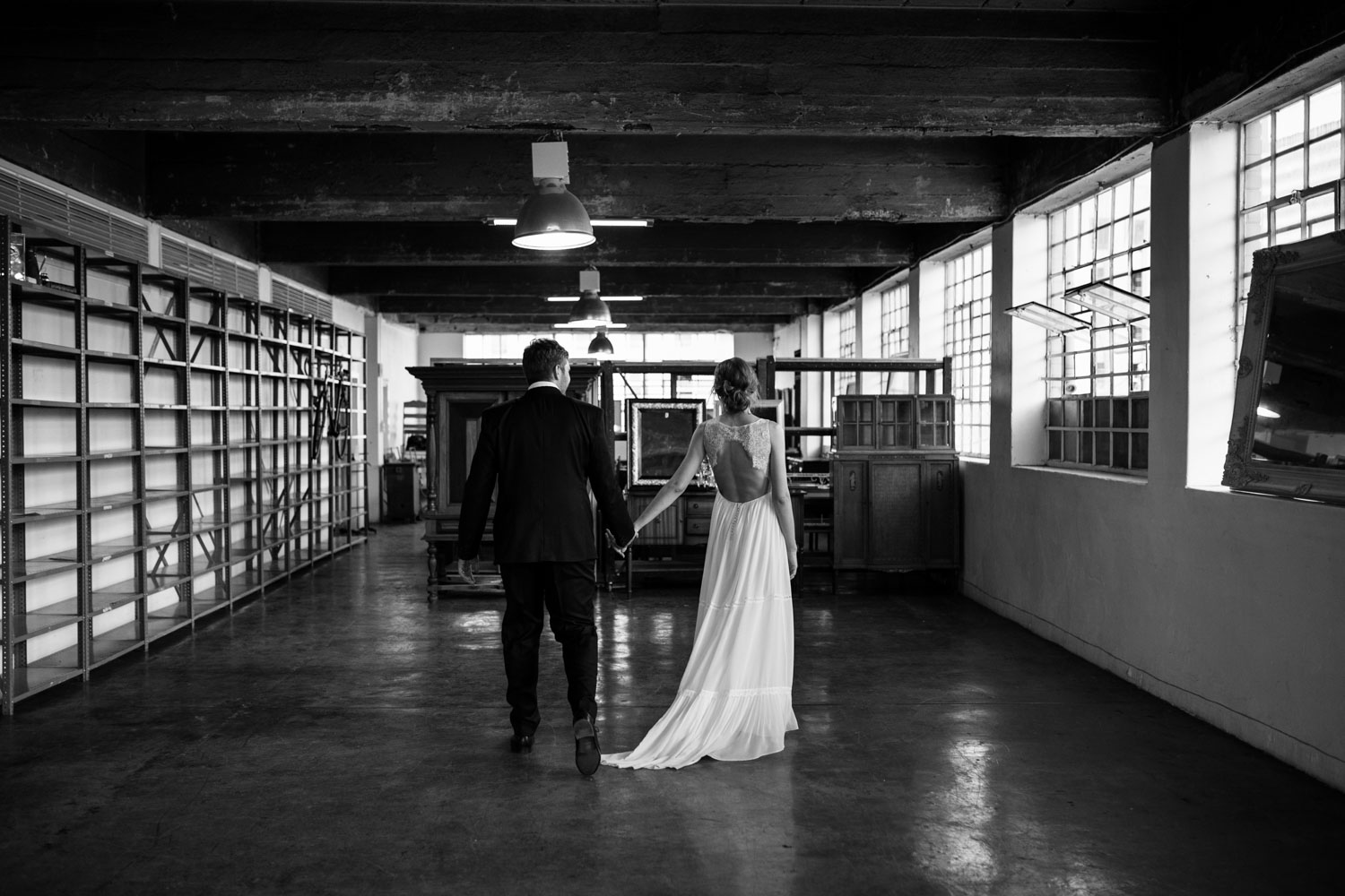 Different Location For Couple Wedding Photography Session In Old Vancouver Warehouse