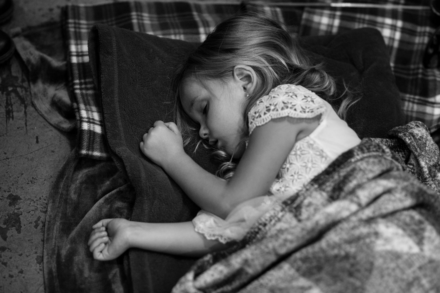 Flower Girl Falls Asleep At Vancouver Wedding Reception