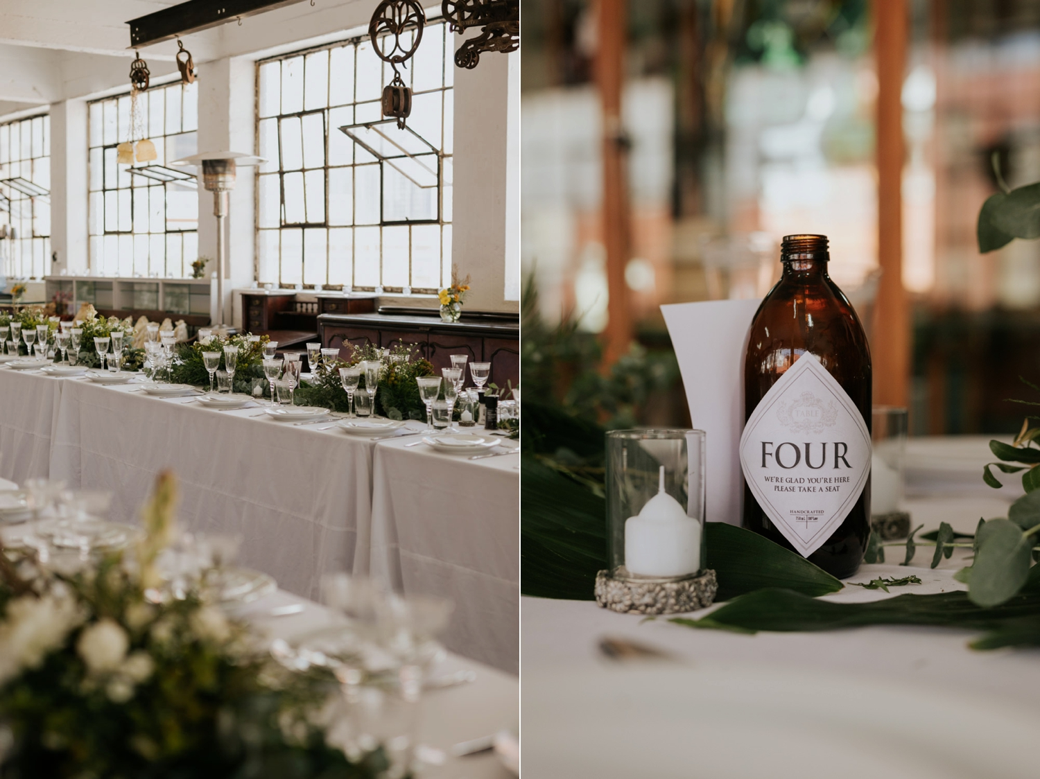 Glass Bottle With Label Beautiful Idea For Wedding Table Number