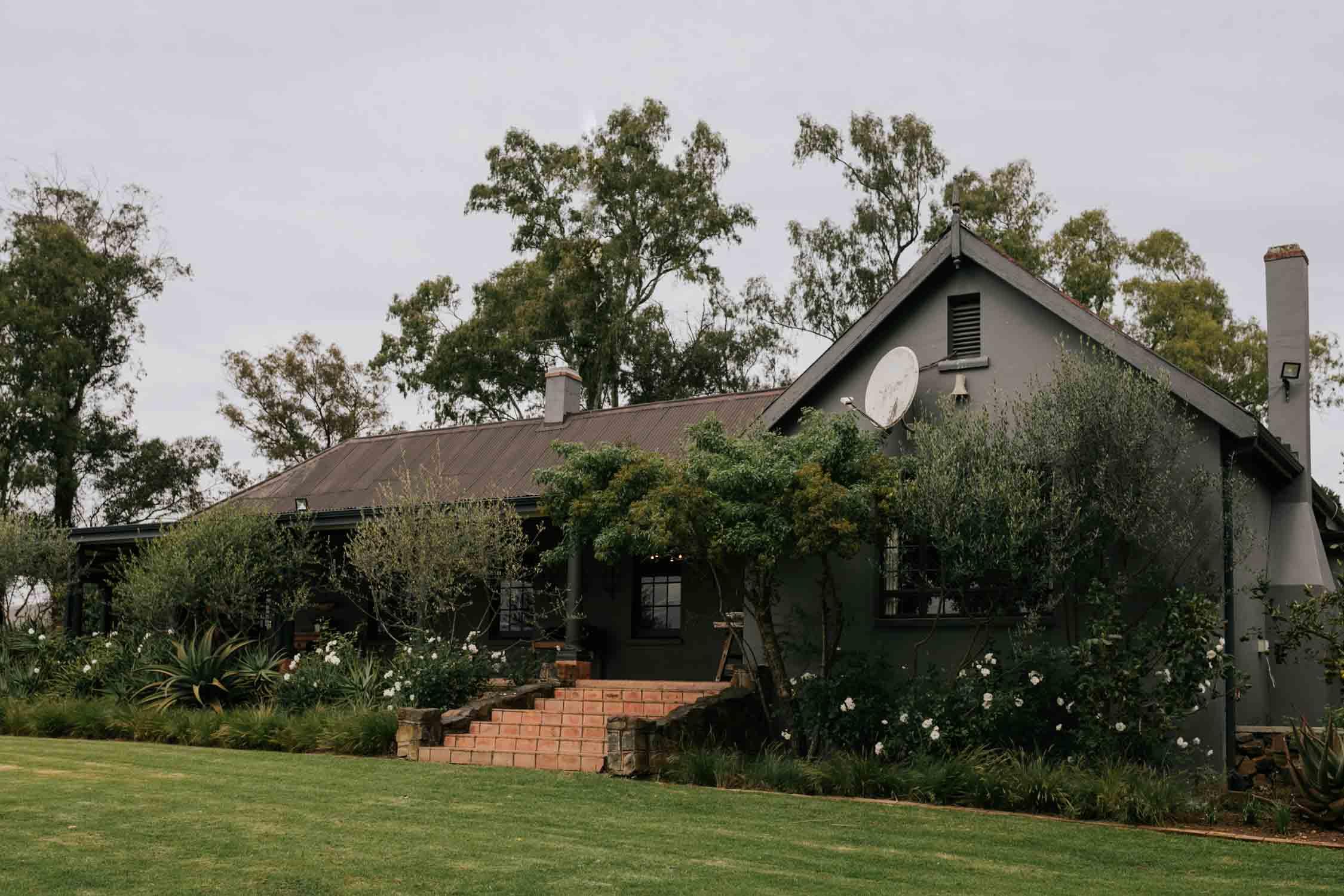 Grey farm house in Natal Midlands.Excelsior Farm.