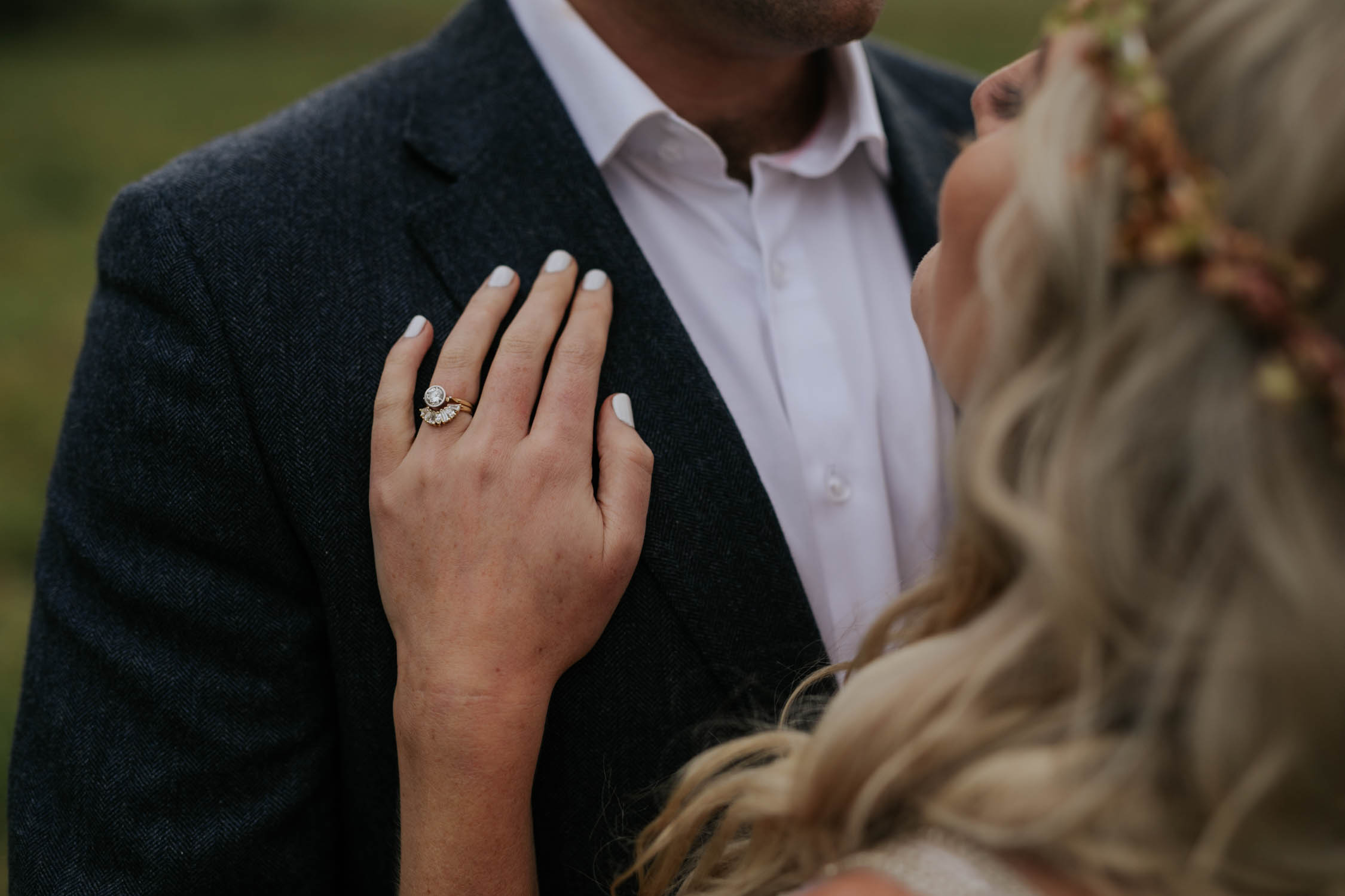 Great way to photograph bride's details like her wedding ring naturally.