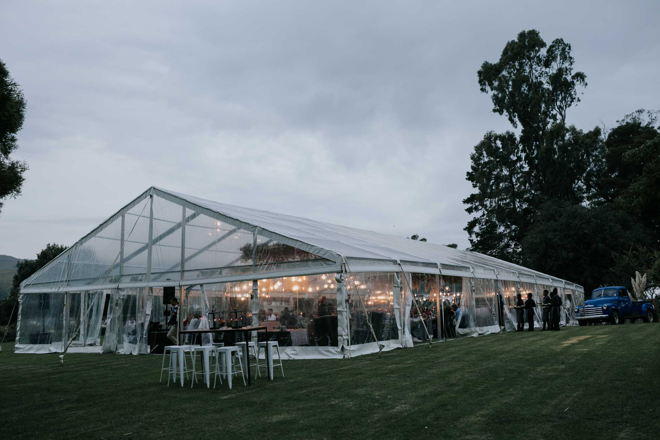 Glass wedding tent in the Natal Midlands