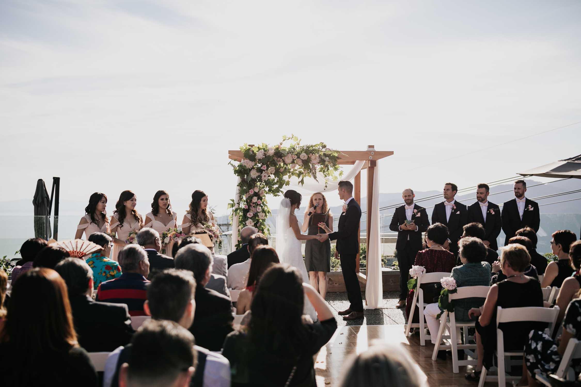 Altitudes Bistro Grouse Mountain Wedding Ceremony Epic Views