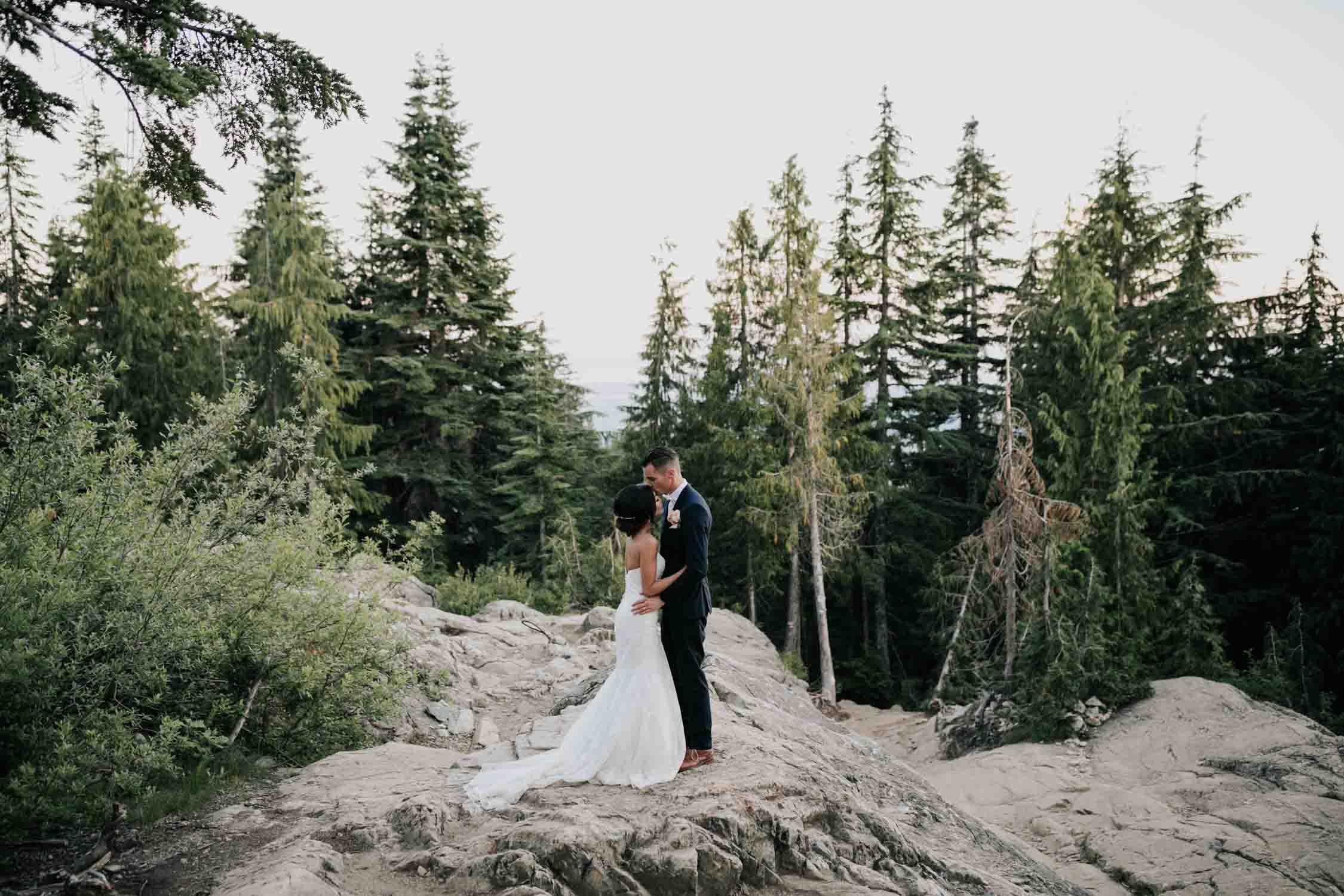 Rocks Wedding Portrait Session Grouse Mountain