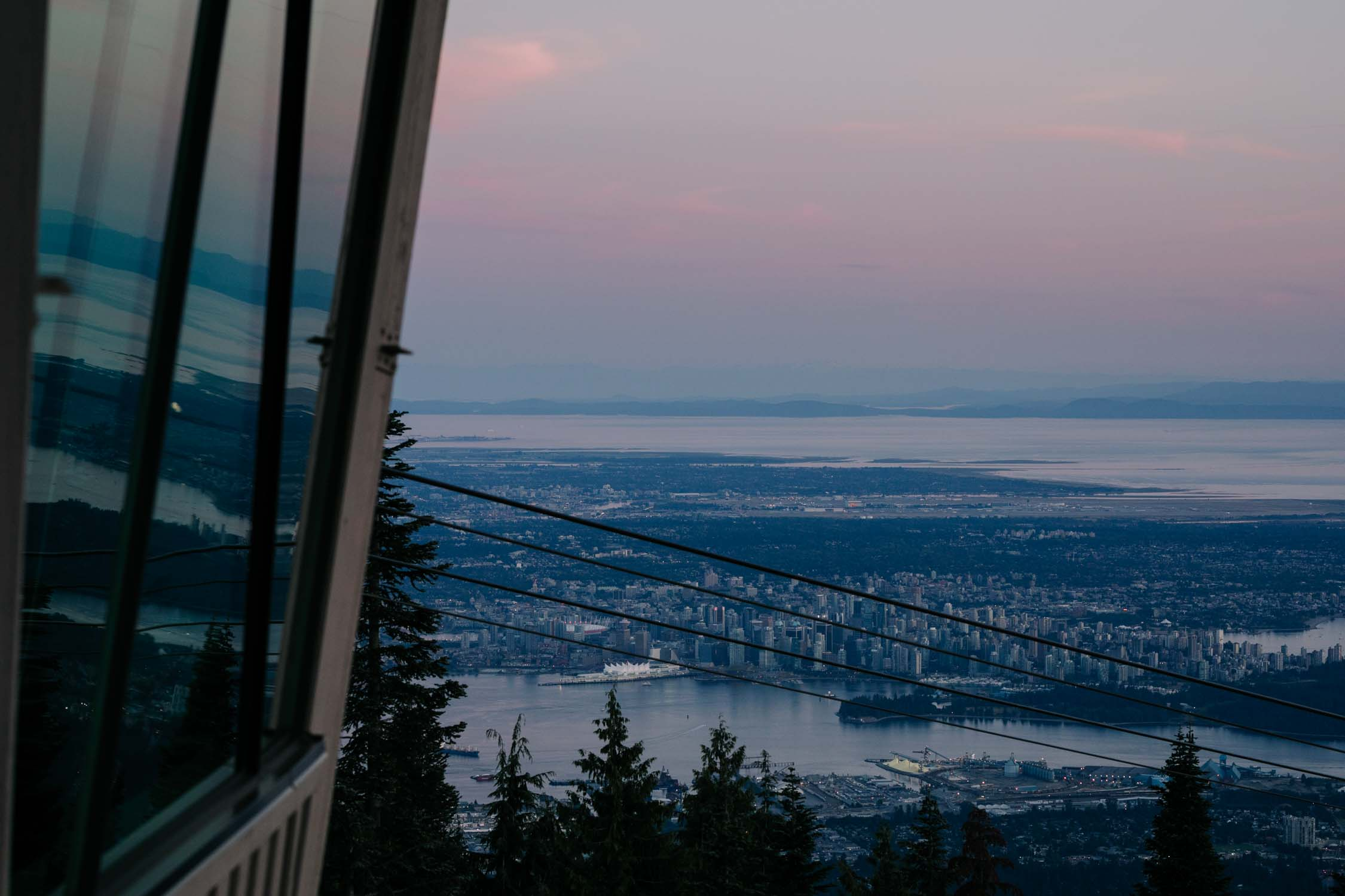 Sunset View Over Vancouver Altitudes Bistro Grouse Mountain
