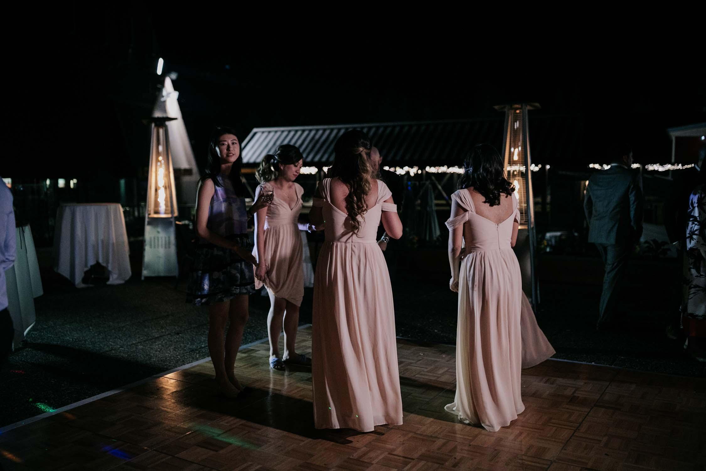 Pink Off The Shoulder Bridesmaids Dresses Soft Vancouver Designer