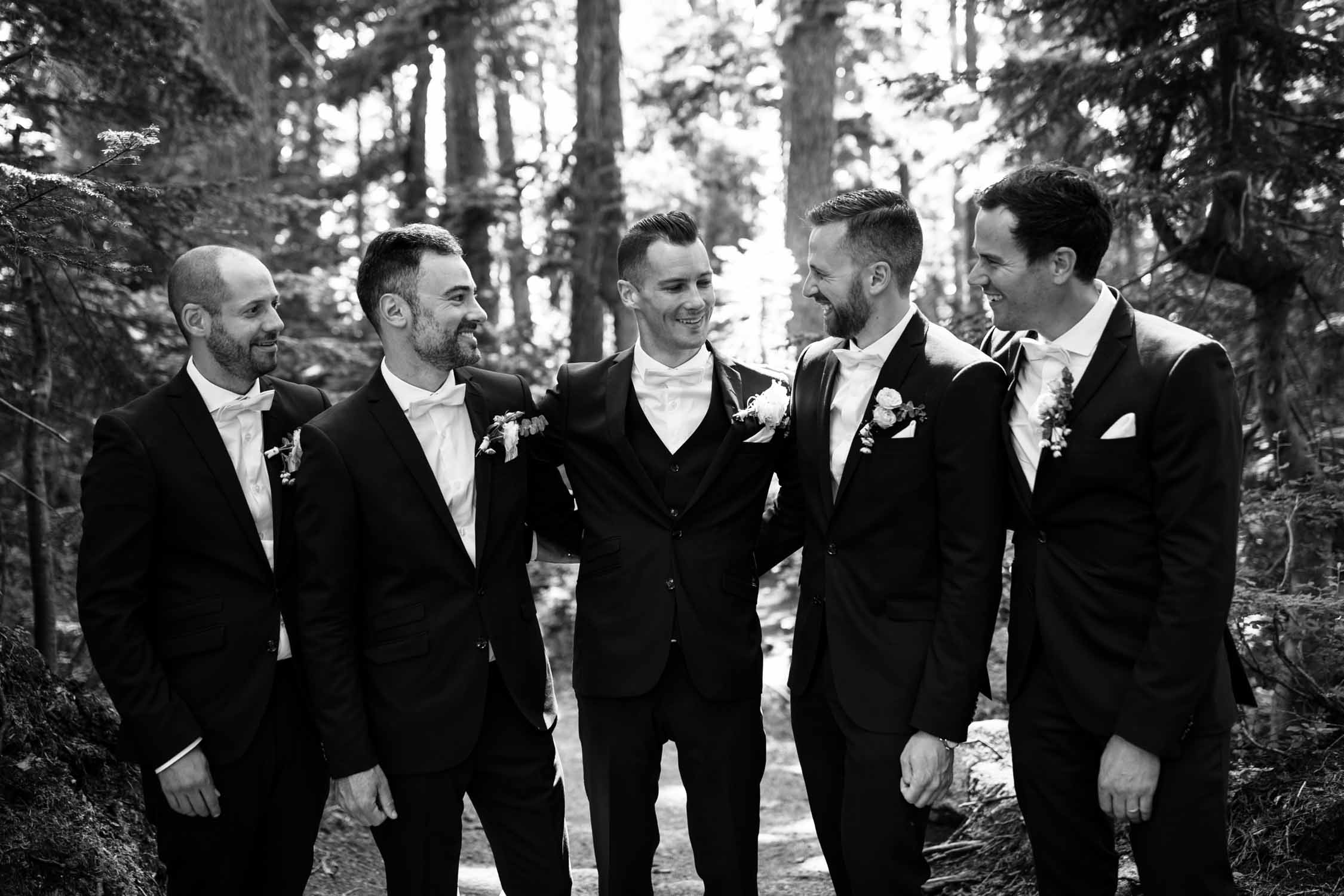 Trendy Outfits Groom and Groomsmen Grouse Mountain Forest